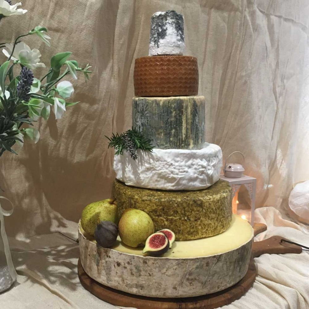 Catelyn Wedding Cheese Cake, 16.1kg wedding cheese tower, feeds 160 - 300